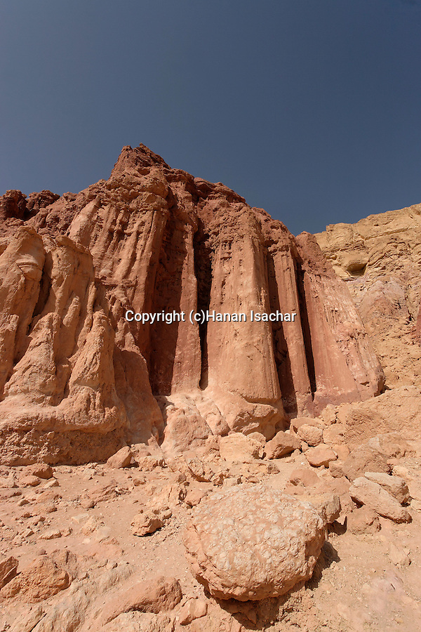 Israel, Amram Columns in Eilat Mountains