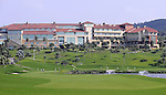 TAIPEI, TAIWAN - NOVEMBER 20:  General view of the Miramar Golf & Country Club from the 9th hole during day three of the Fubon Senior Open on November 20, 2011 in Taipei, Taiwan.  Photo by Victor Fraile / The Power of Sport Images