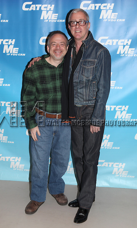 Marc Shaiman & Scott Whittman.attending Meet & Greet for the New Broadway Musical 'Catch Me If You Can'  at the 42ns Street Rehearsal Studios in New York City.