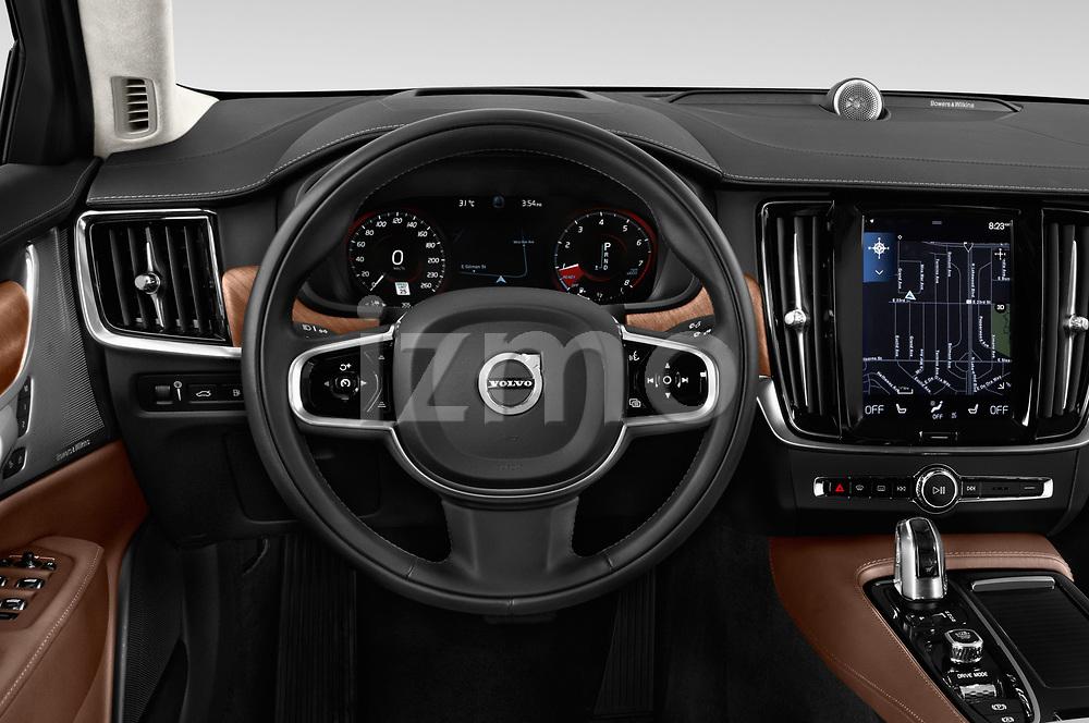 Car pictures of steering wheel view of a 2018 Volvo S90 Inscription 4 Door Sedan Steering Wheel