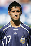 12 July 2007: Argentina's Maximiliano Moralez. Argentina's Under-20 Men's National Team defeated Poland's Under-20 Men's National Team 3-1 in a  round of 16 match at the National Soccer Stadium (also known as BMO Field) in Toronto, Ontario, Canada during the FIFA U-20 World Cup Canada 2007 tournament.