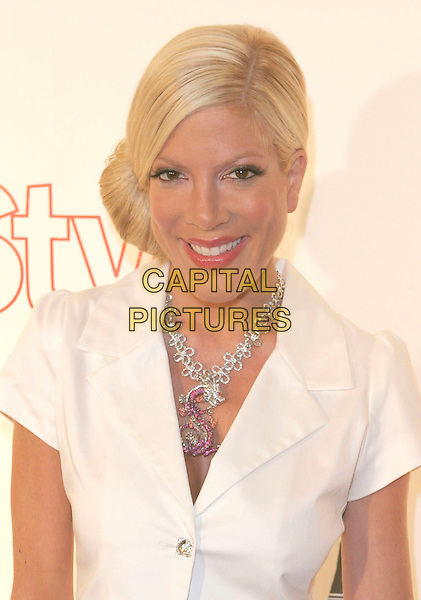 TORI SPELLING.Attends Life & Style Magazine Presents Stylemakers 2005 held at the Monmartre Lounge, Hollywood, California. USA, 26 May 2005. .portrait headshot white short sleeved jacket S necklace diamante.Ref: ADM.www.capitalpictures.com.sales@capitalpictures.com.©Zach Lipp /AdMedia/Capital Pictures.