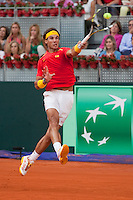 Rafael Nadal during the qualification couple game for the Davis Cup in Caja Magica, Madrid. September 14, 2013. (ALTERPHOTOS/Victor Blanco)