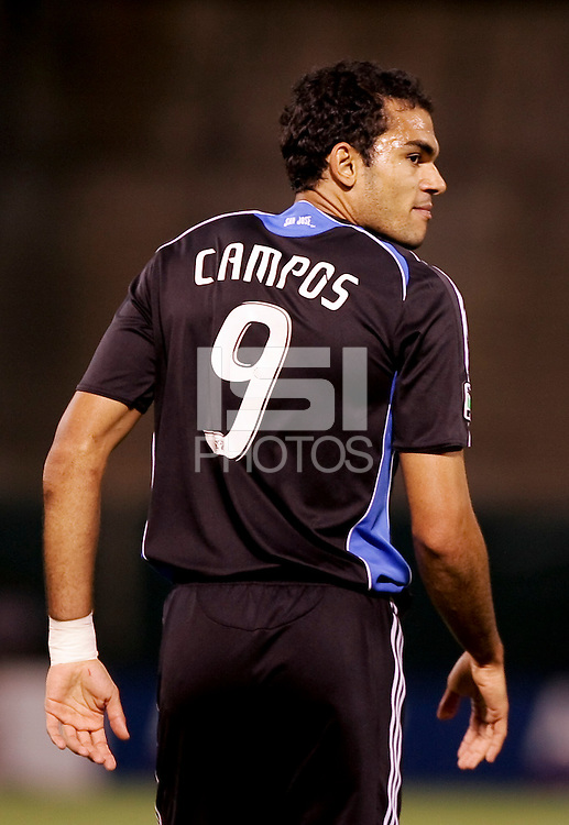 Pablo Campos. San Jose Earthquakes tied Los Angeles Galaxy 1-1 at the McAfee Colisum in Oakland, California on April 18, 2009.