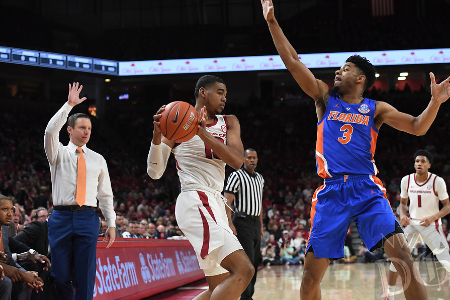 NWA Democrat-Gazette/J.T. WAMPLER Image from Arkansas' 57-51 loss to Florida Wednesday Jan. 9, 2019 at Bud Walton Arena in Fayetteville.