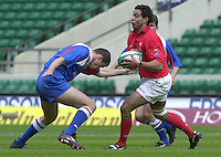 24/05/2002 (Friday).Sport -Rugby Union - London Sevens.Wales vs Russia.Jason Forester[Mandatory Credit, Peter Spurier/ Intersport Images].