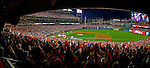 11 October 2012: Jason Werth rounds the bases with a walk off homer as a Washington Nationals sellout crowd of 44,392 cheer the team during Postseason Playoff Game 4 of the National League Divisional Series against the St. Louis Cardinals at Nationals Park in Washington, DC. The Nationals defeated the Cardinals 2-1 on a 9th inning, walk-off solo home run by Jayson Werth, tying the Series at 2 games apiece. Mandatory Credit: Ed Wolfstein Photo