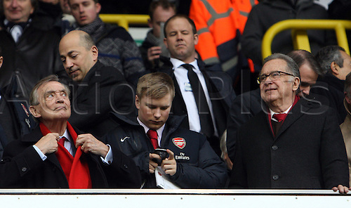 03.03.2013. London, England. Ken Friar OBE and Director of Arsenal before the Premier League game between Tottenham Hotspur and Arsenal from White Hart Lane