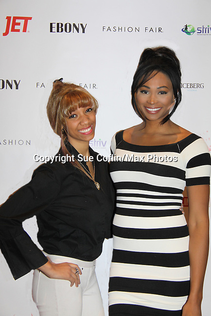 Vanessa poses with Nana Meriwether (Miss USA 2012 - Color of Beauty Awards on February 4, 2014 at Holy Apostles, New York City, New York. (Photo by Sue Coflin/Max Photos)