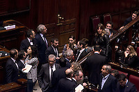 Roma, 30 Gennaio 2015<br /> Camera dei Deputati - Elezione del Presidente della Repubblica<br /> Seconda votazione.<br /> Un capannello dei fuoriusciti del M5S<br /> Rome, January 30, 2015<br /> Chamber of Deputies - Election of the President of the Republic<br /> Second Vote.