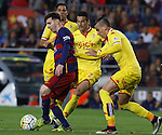23.04.2016 Barcelona. Liga BBVA day 35. Picture show Leo Messi  in action during game between FC Barcelona against Real Sporting at Camp nou