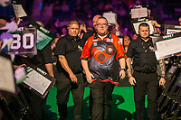 12th March 2020; M and S Bank Arena, Liverpool, Merseyside, England; Professional Darts Corporation, Unibet Premier League Liverpool; Stephen Bunting during his walk on for night six