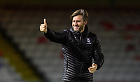Lincoln City's assistant manager Nicky Cowley acknowledges the fans at the end of the game<br /> <br /> Photographer Chris Vaughan/CameraSport<br /> <br /> The Emirates FA Cup Second Round - Lincoln City v Carlisle United - Saturday 1st December 2018 - Sincil Bank - Lincoln<br />  <br /> World Copyright © 2018 CameraSport. All rights reserved. 43 Linden Ave. Countesthorpe. Leicester. England. LE8 5PG - Tel: +44 (0) 116 277 4147 - admin@camerasport.com - www.camerasport.com