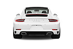 Straight rear view of 2017 Porsche 911 Carrera-Coupe 2 Door Coupe Rear View  stock images
