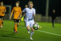 Friday  16 December 2014<br /> Pictured:  Oliver Cooper of Swansea City  in action <br /> Re: Swansea City U18s v Wolverhampton Wonderers U18s, 3rd Round FA youth Cup Match at the Landore Training Facility, Swansea, Wales, UK