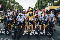 Picture by Russell Ellis/russellis.co.uk/SWpix.com - image archived on 25/04/2019 Cycling Tour de France 2018 - Team Sky at the Tour de France - STAGE 21: HOUILLES - PARIS Champs-Elysées 29/07/2018<br /> - Geraint Thomas Team Sky