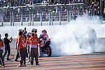 VALENCIA, SPAIN - NOVEMBER 11: Marc Marquez celebration during Valencia MotoGP 2016 at Ricardo Tormo Circuit on November 11, 2016 in Valencia, Spain