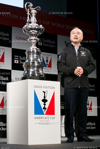 SoftBank Chairman and CEO Masayoshi Son speaks during a news conference on June 1, 2016, Tokyo, Japan. The American's Cup Event Authority, Fukuoka City, Japan SoftBank Group Corp. (SBG) and the JSAF announced that the ninth race of the the Louis Vuitton America's Cup World Series (LVACWS) will be held in Fukuoka, the fifth largest city in Japan, from November 18 to 20, 2016. Fukuoka will be the first city to host the LVACWS in Asia since the competition started in 1851. The race is part of the qualifiers for the 35th America's Cup 2017. (Photo by Rodrigo Reyes Marin/AFLO)