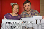 The KDYS are calling on volunteers to come forward to help run youth clubs in South West and Mid-Kerry. .L-R are Volunteers Deirdre Murphy and Toma?s Hurley