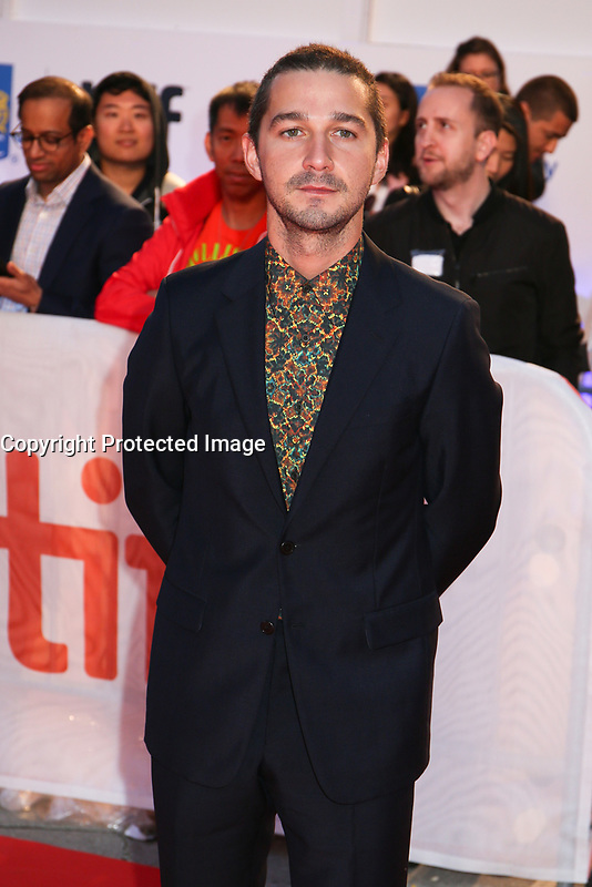 SHIA LABEOUF - RED CARPET OF THE FILM 'BORG / MCENROE' - 42ND TORONTO INTERNATIONAL FILM FESTIVAL 2017 IN TORONTO, CANADA, 07/09/2017. # FESTIVAL DU FILM DE TORONTO - RED CARPET 'BORG VS. MCENROE'