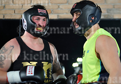 March 16-17,Legends Fight &amp; Box Academy,Berlin,Germany<br /> Media day before the fight of Marco Huck vs Mairis Briedis for regular or interim WBC World cruiserweight title and<br /> International Boxing Organization World cruiserweight title<br /> Boxer before sparring session