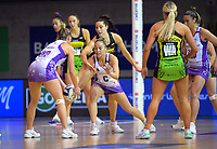 Action from the ANZ Premiership netball match between Central Pulse and Northern Stars at Auckland Netball Centre in Auckland, New Zealand on Saturday, 25 July 2020. Photo: Dave Lintott / lintottphoto.co.nz