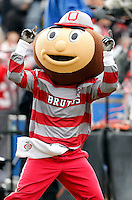 Brutus Buckeye fires up the loud Ohio State crowd that traveled to Purdue during the second half of the NCAA football game at Ross-Ade Stadium in West Lafayette, Ind. on Nov. 2, 2013. (Adam Cairns / The Columbus Dispatch)
