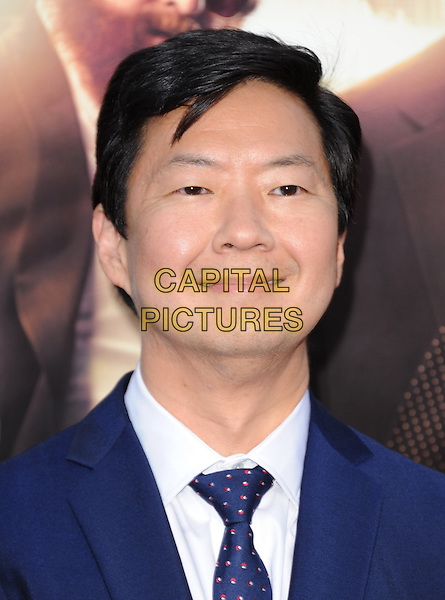 "Ken Jeong.""The Hangover Part III"" Los Angeles Premiere held at the Westwood Village Theater, Los Angeles, California, USA..May 20th, 2013.headshot portrait blue tie suit shirt white.CAP/DVS.©DVS/Capital Pictures"