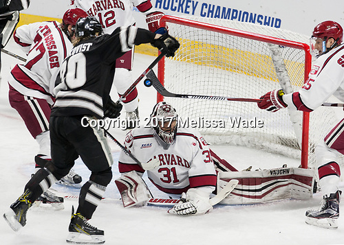 Lewis Zerter-Gossage (Harvard - 77), Kasper Björkqvist (PC - 20), Merrick Madsen (Harvard - 31), Wiley Sherman (Harvard - 25) - The Harvard University Crimson defeated the Providence College Friars 3-0 in their NCAA East regional semi-final on Friday, March 24, 2017, at Dunkin' Donuts Center in Providence, Rhode Island.