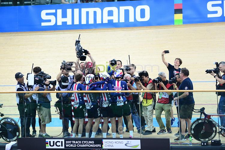 Picture by Richard Blaxall/SWpix.com - 13/04/2017 - Cycling - 2017 UCI Track Cycling World Championships - Hong Kong Velodrome, Tseung Kwan O, Hong Kong - the,brief,marketing,tissot,santini,tacx,shimano,