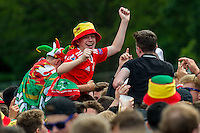 2016 06 25 Wales fans watch Wales play against Northern Ireland, Cardiff, UK