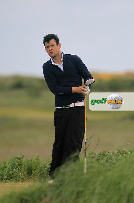 Evan Farrell (Ardee)<br /> during the 2nd round of the East of Ireland Amateur Open Championship 2013 Co Louth Golf club 2/6/13<br /> Picture:  Thos Caffrey / www.golffile.ie
