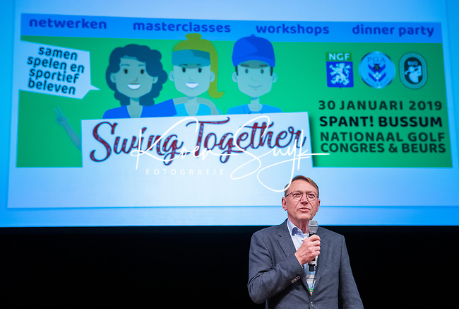 BUSSUM - NGF president Willem Zelsmann    Nationaal Golf Congres & Beurs. COPYRIGHT KOEN SUYK