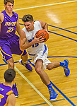 22 November 2015: Yeshiva University Maccabee Forward Michael Hayon, a Freshman from Los Angeles, CA, drives to the basket during second half action against the Hunter College Hawks at the Max Stern Athletic Center  in New York, NY. The Maccabees defeated the Hawks 81-71 in non-conference play, for their second win of the season. Mandatory Credit: Ed Wolfstein Photo *** RAW (NEF) Image File Available ***