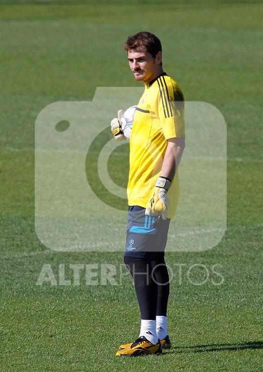Madrid (13/09/2011).- Ciudad Deportiva de Valdebebas.Entrenamiento del Real Madrid c.f. .Iker Casillas...Photo: Alex Cid-Fuentes / ALFAQUI....
