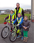Erin, Callum, Ian and Holly McCaffrey at the Operation Transformation 10km cycle from Ardee Parish Centre.