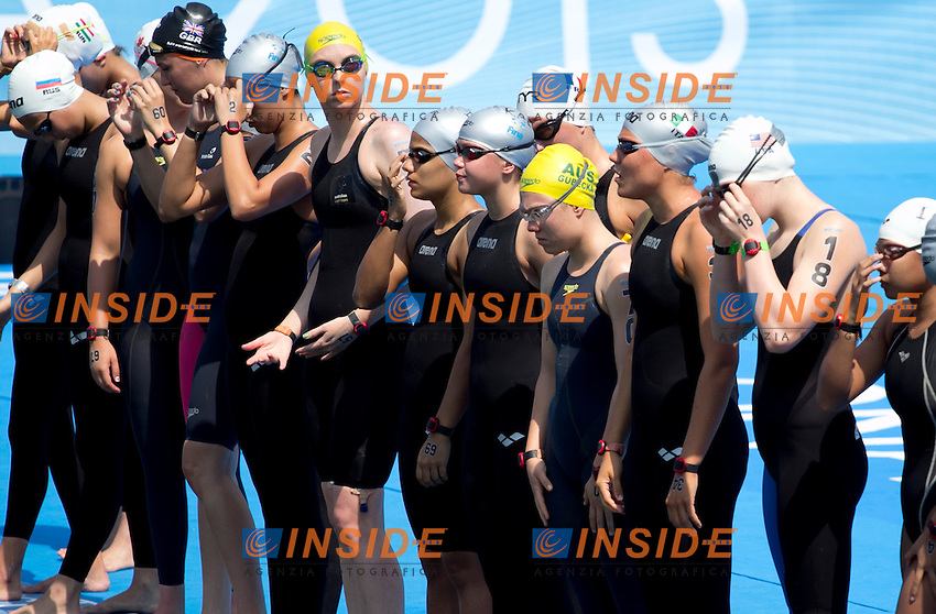 Start<br /> Open Water 10km Women<br /> 15 FINA World Aquatics Championships<br /> Day-04<br /> Barcelona 19 July - 4 August 2013<br /> Photo L. Salvemini/Insidefoto/Deepbluemedia.eu