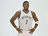 Brooklyn Nets No. 7 Joe Johnson poses for portraits during Media Day held at the team's practice center in East Rutherford, New Jersey on Monday, September 28, 2015.<br /> <br /> James Escher