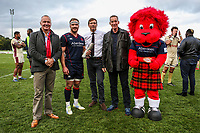 Man of the Math is awarded to Joe Atkinson of London Scottish during the Greene King IPA Championship match between London Scottish Football Club and Doncaster Knights at Richmond Athletic Ground, Richmond, United Kingdom on 30 September 2017. Photo by Jason Brown / PRiME Media Images.