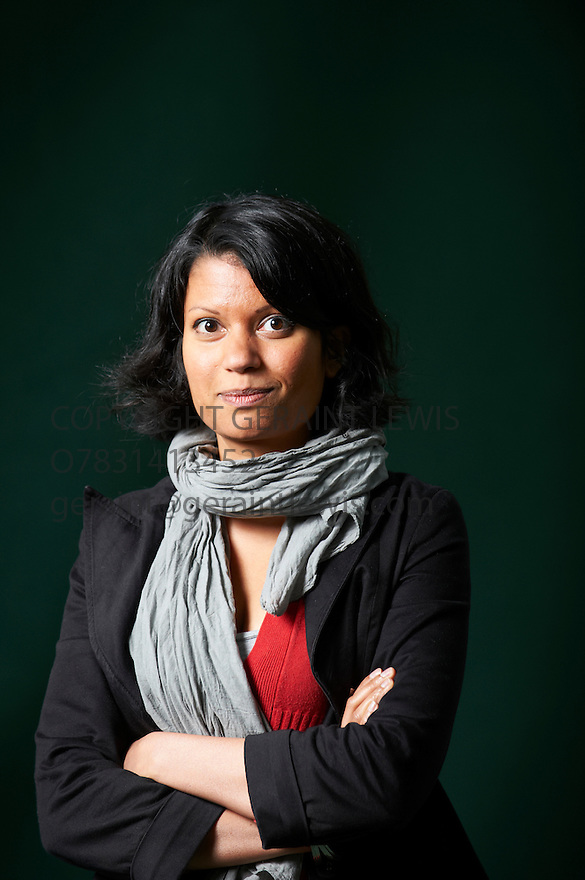 Anjali Joseph writer  at The Edinburgh International Book Festival 2011.  Joseph's Saraswati Park follows 19 year old Ashish in a tale of love and sexual awakening when he moves to a sleepy part of Bombay. Credit Geraint Lewis