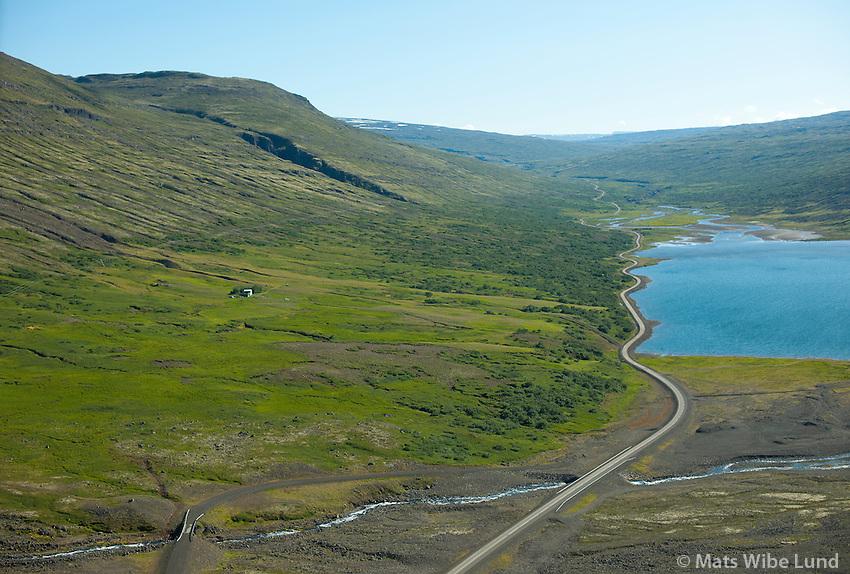 Vatnsskógar og Skríðuvatn séð til suðurs, Fljótsdalshérað áður Skriðdalshreppur /  Vatnsskogar and lake Skriduvatn viewing southd, Fljotsdalsherad former Skriddalshreppur.