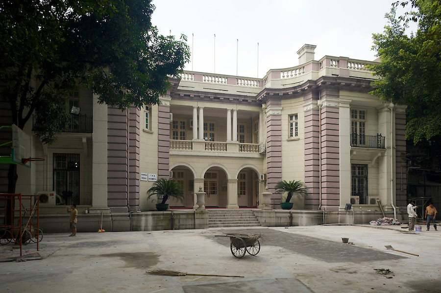 Consulate West Wing Annex, Shamian (Shameen) Island, Guangzhou (Canton).  The Main Consular Building Is No More.