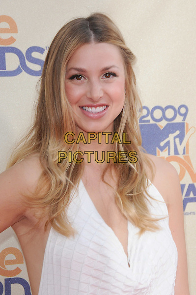 WHITNEY PORT.The 2009 MTV Movie Awards held at Universal Ampitheatre  in Universal City, California, USA..May 31st, 2009 .headshot portrait white .CAP/DVS.©Debbie VanStory/Capital Pictures.