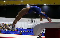 BARRANQUILLA - COLOMBIA, 23-07-2018: Maldonado A de Puerto Rico durante su participación en gimnasia mujeres modalidad salto como parte de los Juegos Centroamericanos y del Caribe Barranquilla 2018. /  Maldonado A of Puerto Rico during his participation in gymnastics women's jump category as a part of the Central American and Caribbean Sports Games Barranquilla 2018. Photo: VizzorImage / Cont