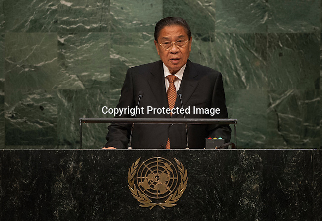 His Excellency Choummaly Sayasone, President of the Lao People&rsquo;s Democratic Republic<br /> <br /> <br /> 6th plenary meeting High-level plenary meeting of the General Assembly (3rd meeting)