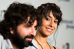"""Spanish director of the film, Mateo Gil and actress Oona Chaplin during the press conference of the presentation of the film """"Proyecto Lazaro"""" at the Festival de Cine Fantastico de Sitges in Barcelona. October 07, Spain. 2016. (ALTERPHOTOS/BorjaB.Hojas)"""