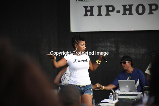 """Dutch Rebelle Performs at the Final Day of 2012 Brooklyn Festival """"Busta Rhymes & Friends"""" Held at the Brooklyn Bridge Park, NY 7/14/12"""