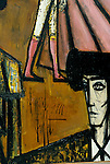 Bernard Buffet French artist expressionist painter (1928-1999) France Circa 1995. Matador painting his signature Kassal Germany 1994.