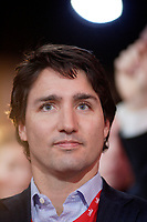 April 23 , 2014 -  Justin Trudeau,Leader,  Liberal Party of Canada attend the Constitutional Amendment Plenary at the  2014 Biennial Convention in Montreal. <br /> <br /> Justin Trudeau, chef du Parti liberal du Canada durant la Seance pleniere sur les amendements constitutionnels<br /> lors du  Congres biennal liberal a Montreal,  dimanche le 23 fevrier 2014.<br /> <br /> Photo : (c) Philippe Nguyen - Images Distribution
