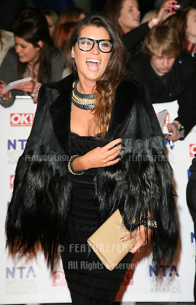 Grace Woodward arriving for the National Television Awards 2011, at the O2, London. 26/01/2011  Picture By: Alexandra Glen / Featureflash